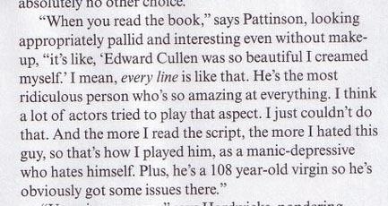 Would tu kill me if I dicho I kind of liked Robert Pattinson?