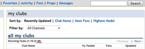 You are a tagahanga of how many clubs?
