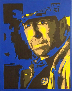I have this awesome painting of Chuck Norris as the fearless Walker Texas Ranger, anybody interested???? If so hit me up