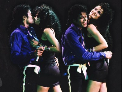Does anyone have the video where Tatiana kisses Michael?(Bad Tour)