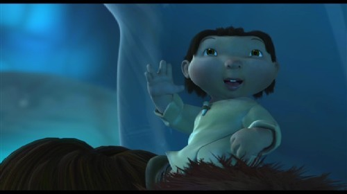 Do You Think Roshan (The baby from Ice Age 1) will come back in Ice age 4 as a Kid, Teen or adult hunter??
