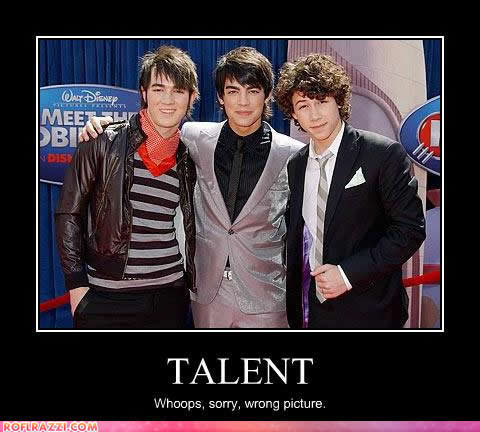 Jonas brother Fans don't hate me. This isn't my picture. I found it funny