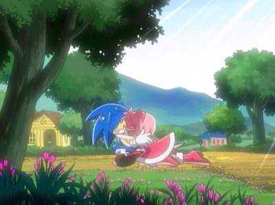 Sonamy all the way! First male character loves the first female character. WOOT!