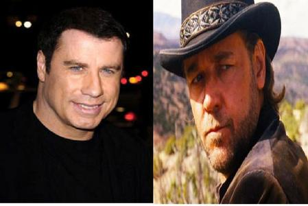 Uhhh............I guess it would have to be: Russell Crowe I loved him in 3:10 to Yuma... Or John Travolta (John Travolta on left and Russell Crowe on right)