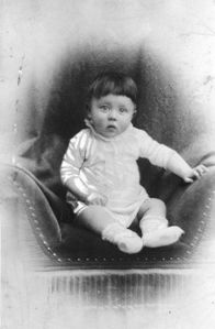 Real baby picture of Adolf Hitler.