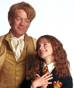 Lockhart and Hermoine from Harry Potter :)
