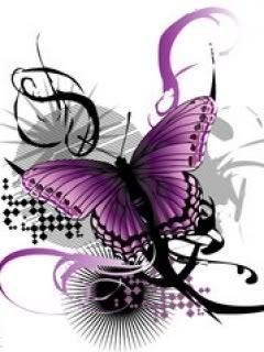 I want to be a purple and black butterfly.