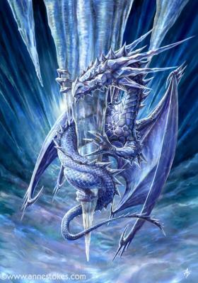 Ice dragon.It would live in the frozen tundra کی, شمالی I'd name it frosty XD :P