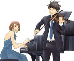 i pag-ibig a lot... but since it only asking 4 three... -Nodame Cantabile -Yakitate Japan! -Jigoku Shoujo Futakomori