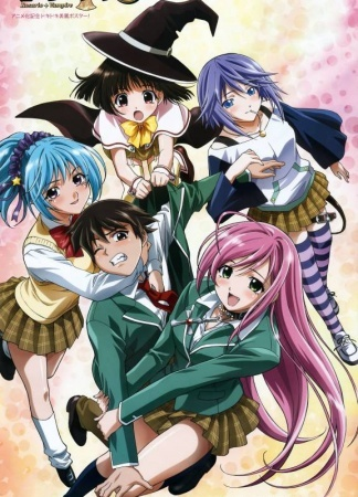 "The عملی حکمت is Rosario + Vampire The characters in order from left to right in your picture are: Yukari Sendou: Her true form is a witch. She initially hates Tsukune since she claims she's in love with Moka, and uses her magical powers to try and drive them apart. However, after both Tsukune and Moka save her from her monster classmates, she falls for HIM too. Her obsession with both has driven her to try to create a 3-way relationship between them all. After making دوستوں with Moka and Tsukune, she apologized to her class and became better received سے طرف کی her classmates. She's also the youngest of the students of the academy, being only 11 years old. Kurumu Kurono: She is a succubus, and is initially jealous of Moka's popularity overshadowing her own, though she eventually considers Moka a friend. She tries to seduce Tsukune and the male student body, using her charming techniques (through her succubi abilities, including her busty physique), making them her slaves. This is so she can find her ""mate of fate. After Tsukune persuades the unsealed Moka to spare her, she becomes infatuated with him and makes a decision that he will be her ""mate of fate"", becoming دوستوں with the pair Moka Akashiya: Moka is a student of the Yokai Private Academy. She's the first person Tsukune met when he first set foot on the monster realm. Moka's true form is a vampire but she is very sweet and kind. She takes a liking to Tsukune after sucking his blood and seems to get addicted on doing so. The reason Moka wears a rosary around her neck is due to her 'inner self'. When her rosary around her neck is removed (to تاریخ Tsukune is the only one capable of removing it), the مہر that was keeping her true nature is released. A few physical changes occur, signifying her transformation into a super vampire. Mizore Shirayuki: Her true form is a Yuki Onna, an ""Ice Woman"". she has the ability to control ice at will. She also has the ability to make multiple ice clones of herself. she returned to school after a long absence and showed an immediate interest in Tsukune. In truth, she had become completely infatuated with Tsukune, going so far as to create her own journal/scrapbook with all of Tsukune's newspaper articles. She took a liking to Tsukune because she believed that he was a loner just like herself. She believed that Moka was in her way of getting Tsukune's complete affection and thus tried to kill her. She eventually warmed up to the others after being saved سے طرف کی Tsukune in his temporary vampire form. After being saved she also begins stalking Tsukune on a daily basis. Ruby Toujou: Ruby reappears, when Tsukune became out of control in his ghoul-state, and helped the exorcist in sealing his abilities. She now resides at Yōkai Academy, as the school board chairman's aide. In an omake, it reveals that the main reason for Ruby working under the board chairman is her deep crush on Tsukune and سے طرف کی working at the school she could be near him."