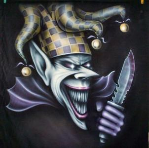 One with killer evil crazy clown trying to stab me and drag me under my letto