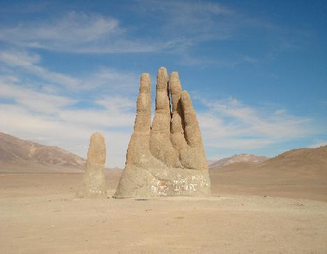 Giant hand in the desert. :)
