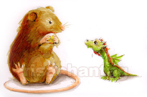 """mouse: """"...and then as I was skipping in the kitchen, the owl swooped down and told me my shoes were untied"""". dragon: :""""are Ты gonna eat all that""""? mouse: """"wait. I told the owl I had no shoes on. Just my медведь slippers. Stupid owl"""". dragon: """"I wish I could do that with my tail"""". mouse: """"I told the owl he was flying upside down. So he flipped over. Stupid owl""""! dragon: """"I want to eat that или I'll eat you""""! mouse: """"later. I gotta go and climb on вверх of a giraffe and sing Рождество songs with his butt""""."""