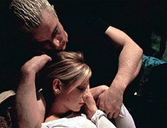 Spike and Buffy have the most forbidden love of all time. Spike and Buffy are mortal enemies; the slayer and a vampire (who has previously taken pleasure in killing two slayers).  Buffy is the chosen one who is supposed to protect the world from darkness and kill vampires, but instead she joins Spike in the darkness and falls in love with him.
