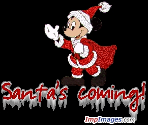 This may be silly! Mickey souris is known all over the world. And he makes the world smile just par looking at him! So... put a happy character in a Santa suit.....here I come!!! HO HO HO MERRY CHRISTMAS EVERYONE ♥