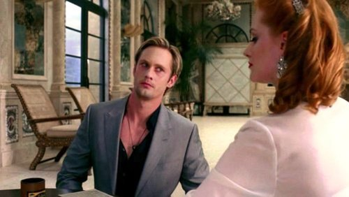 Eric Northman from True Blood  BTW I saw this pic and it cracked me up! a confused and terrified face on Mr. viking is a rarity!