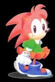 the only tampil Amy was in was Sonic X. That picture anda put there is fan art, but that desain is from sonic CD.