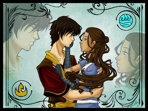 NO NO NO NO NO!Katara and Zuko are meant.Air is not a opposite of ANYTHING so he does NOT attract to Katara.You see Zuko is from the fuego nation.And Katara is from The Southern Water Tribe.That is an OPPOSITE! P.S. Katara will make a wonderful fuego Lady*wink wink*