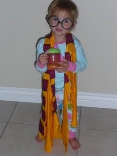 My baby sis dressed up as Harry Potter :D