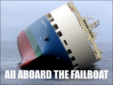All aboard the failboat! Haha! I laughed for half an час after i saw all the fail лодка pics.