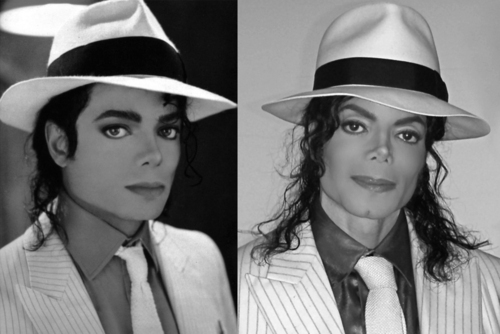 I agree 100% with you... People change as they get older and make choices on their looks when they feel like it. Like in this pic, anda can tell he is older, his nose looks different, and his eyebrows are arched. I always knew of him as Michael Jackson no matter what his skin color was, but I think thats another thing that made his appearance such a big deal cuz some people didn't know the reason for him changing atau didn't believe the reasons were true, atau they just couldn't accept it. Its sad cuz his life and choices were magnified a thousand lebih times than they needed to be and the things he did to his appearance people do everyday. He aged just like the rest of us and some of the things that happened to him were out of his control... And I agree w/ you, he was always beautiful inside and out, and he was always Michael Jackson <3