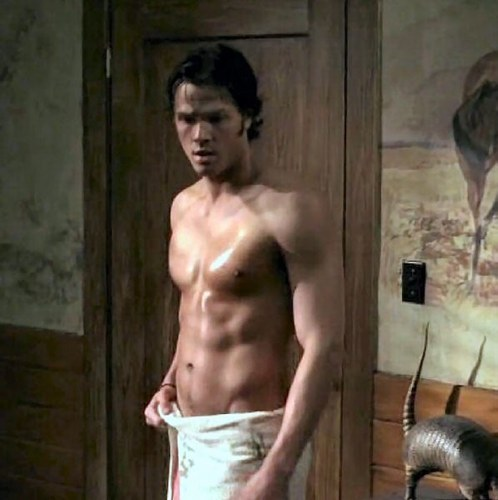 He's really hot. I've loved him since Supernatural, season 1. If he held me I'd scream, blush and pass out.