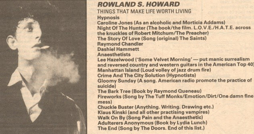 Rowland S.Howard, foundr member of The Boys अगला Door/Birthday Party, with Nick Cave, Tracy Pew & Mick Harvey. RSH Died on the 30/12/09, he was one of the most amazing musicians & artists to ever live. he will be sadly missed द्वारा many!