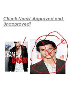 According to my pic..even Chuck Norris apporves Edward.