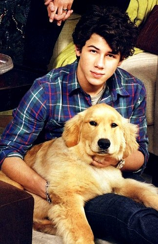 Nick Jonas! even his puppy is cute, See:
