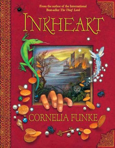 the inkheart trilogy! it has PLENTY of fantasy and romance.:)