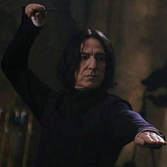 Alan Rickman as Severus Snape! 8D He pwns the both of them. Older men beat down the young punks anyday.