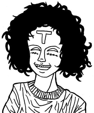 Girl With Curly Hair Drawing. Draw Curly Hair Anime Style