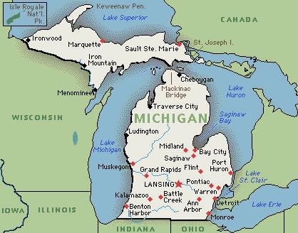 Michigan, America's high-five! LOL