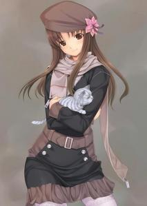 I'm not sure if she's even FROM any anime but I look quite like this person except I have darker hair and I have more of a side fringe. Other than that, we look rly similar and the clothes she's wearing is even my sort of style xD