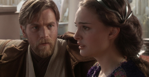 When Obi-Wan needed to find Anakin, he knew that Padmé was the only one who knew that. But she lied to him and she zei she didn't know. So Obi-Wan followed her. u can see very well in the movie when Padmé gets into her ship to go to Mustafar, that Obi-Wan sneeks after her inside and than hides himself. (I wanted to give u a picture, but I didn't find any) When Padmé saw Obi-Wan on Mustafar, she had no idea that came with her, she was really surprised. So it's absolutley possitive that she knew from nothing. All she wanted to do was save her Anakin... Hope this helped you!