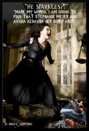 %$#$$#$#$&^%%^%$#^^&$#@!!$#%#%^%&**$@$#- THEM! Outrageous! Bellatrix has a surprise for Edward anyway.
