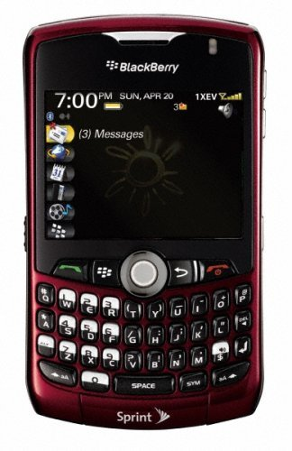 A red Sprint BlackBerry Curve 8330