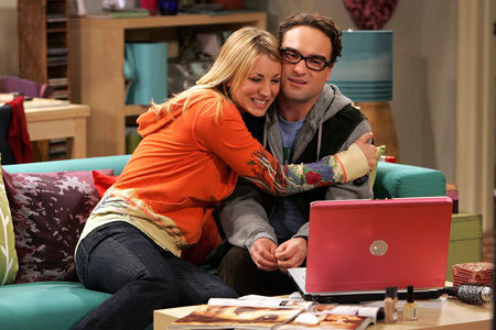 Penny and Leonard from The Big Bang Theory :3