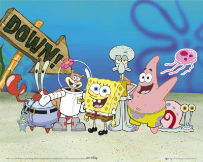 1.Spongebob 2.Patrick 3.Squidward 4.Plankton 5.Mr.Krabs