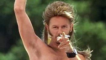 Bald. ill get a wig and look lyk joe dirt.