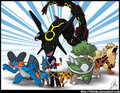 i think Rayquaza because he stop the two legendaries Kyogre and Groudon for fighting w each other...........Thats it..........