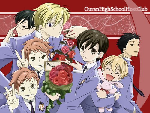 "Oh আপনি have to see Ouran High School Host Club then!!! That is one of the funniest জীবন্ত ever that has romance. *Note* The জাপানি কমিকস মাঙ্গা has আরো romance in it than the anime, but it's still a very good anime!!! It's about this High class high school, and the main character, Haruhi, who is a ""commoner"" manages to apply for this school. But she doesn't have to money to afford a school uniform yet. so with her short hair she has, everyone thinks she is a boy. Then, when she's trying to find a place to study, she ends up meeting the Host Club, and gets mixed up into their business. I won't tell আপনি the whole thing!!! Just watch it!!!"