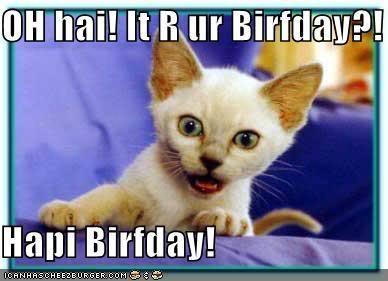 HAPPY BIRTHDAY MOMCAT!!! Weee luff yu so much! Eye hope yur birfdei iz med of teh awwwsum!♥ ♥EYE LUFF YU♥
