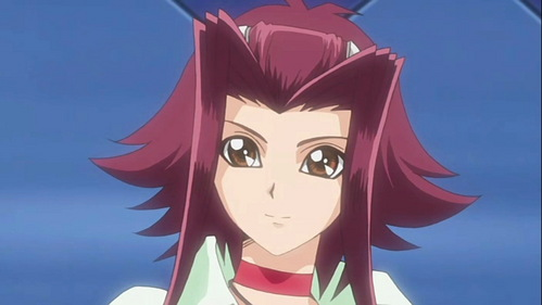 Izayoi Aki from Yugioh 5DS, she was emo at first O.o