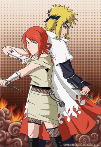 i think its naruto's mom??? that is naruto's father with his mother:))
