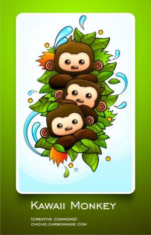 Look at the kawaii monkeys ♥