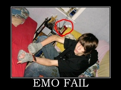 Okay. All these emos are coming on the internet and they pretend to be emotinoal and they annoy the hell out of me. What do I do?