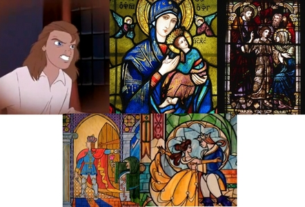 First Question) It could be a flaw. However in Beauty and the Beast: The Verzaubert Weihnachten the prince looks 11 in a flashback though his voice doesn't sound like it. And in classic stained-glass windows like the ones this is based on, the baby and adolescent Jesus often just proportionately looked like a small adult. In the movie he's Weiter to a short old lady so we don't know how tall he's supposed to be and when he's Weiter to the enchantress he's on his knees. but compare the first windows with him to the last with Belle, he looks older. Sekunde question) Of course he knows!! I don't think Belle would up and marry the guy without filling her father in on the story. There's apparently a passage of time between the transformation and the last ballroom scene seeing as Belle and the Prince have a clothing change. I figure she explained it to him somewhere in there.