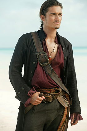 Will Turner aka Orlando Bloom. I like him because he is HOT and funny in the movie.