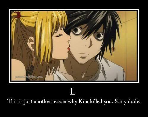 L of course! i dreamt of kissing L too.. when i woke up, i was blushing and felt that it really happened. :&#34;> 